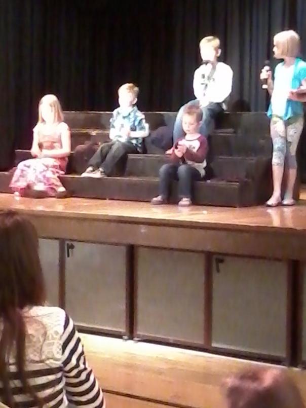 Safety Kids on stage